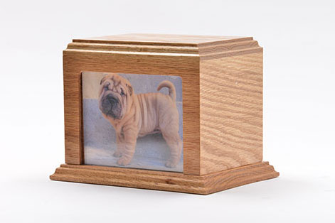 Photo Urn- Oak Image
